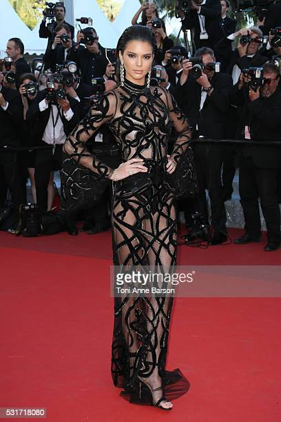 Kendal Jenner attends a screening of 'From The Land And The Moon ' at the annual 69th Cannes Film Festival at Palais des Festivals on May 15 2016 in...