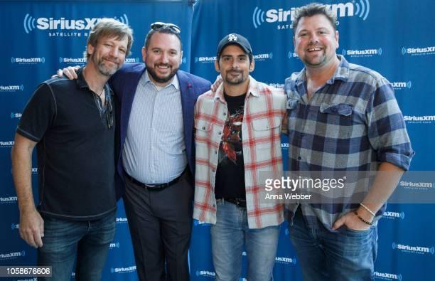 Kendal Marcy JR Schumann Brad Paisley and Storme Warren at SiriusXM Nashville at SiriusXM Studios on November 7 2018 in Nashville Tennessee