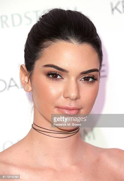 Kendall and Kylie Jenner celebrate Kendall Kylie Collection at Nordstrom private luncheon at Chateau Marmont on March 24 2016 in Los Angeles...