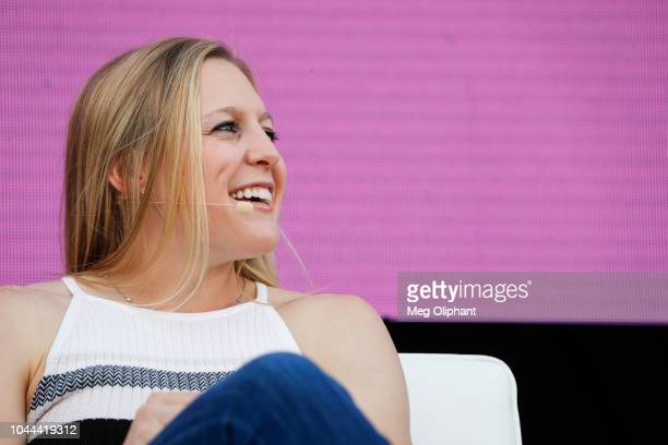 Kendall Coyne Schofield of the US Women's National Hockey Team speaks at the espnW Summit held at Resort at Pelican Hill on October 1 2018 in Newport...