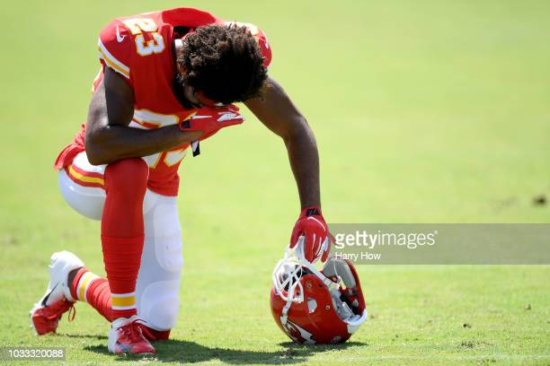 Kendall Fuller of the Kansas City Chiefs before the game against the Los Angeles Chargers at StubHub Center on September 9 2018 in Carson California