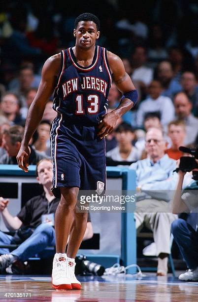 Kendall Gill of the New Jersey Nets during the game against the Charlotte Hornets on April 24 1999 at Charlotte Coliseum in Charlotte North Carolina