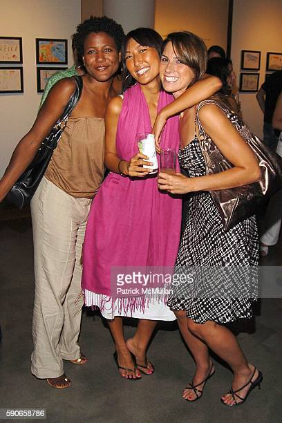 Kendall Griffin Pearl Lee and Laura Morgan attend MILK Gallery hosts TSUNAMI IMPRINTS The Youngest Survivors silent auction and party to Benefit...
