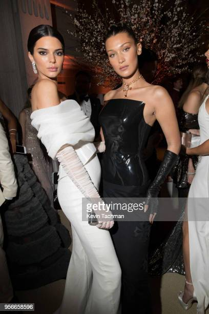 Kendall Jenner and Bella Hadid attend the Heavenly Bodies: Fashion & The Catholic Imagination Costume Institute Gala at The Metropolitan Museum of...