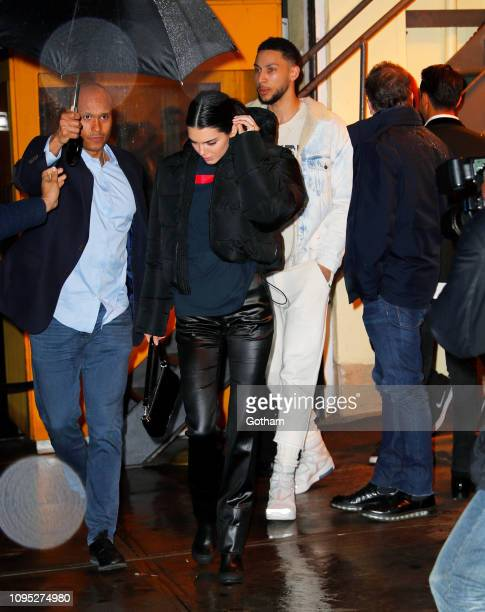 Kendall Jenner and Ben Simmons are seen at Cipriani on February 7 2019 in New York City