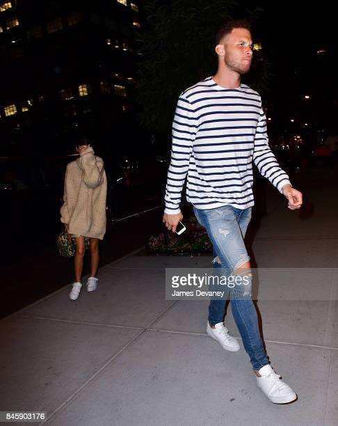 Kendall Jenner and Blake Griffin seen on the streets of Manhattan after dining at Carbone on September 11 2017 in New York City