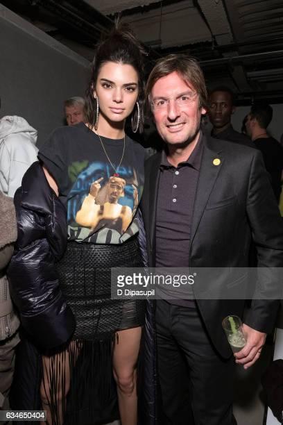 Kendall Jenner and Fendi CEO Pietro Beccari attend the F Is For Fendi New York Fashion Week Party on February 10 2017 in New York City