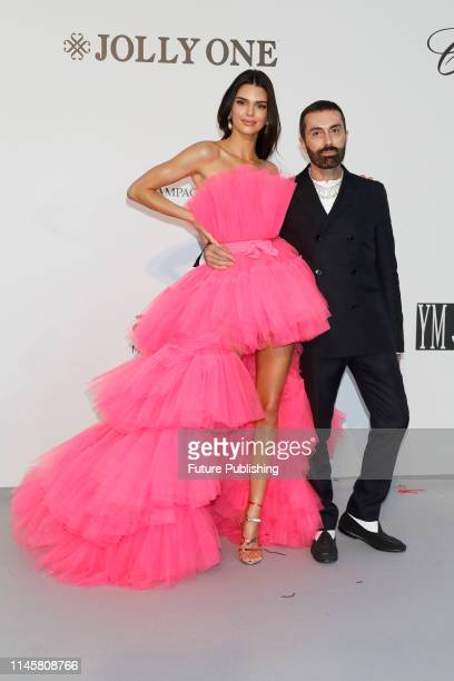 Kendall Jenner and Giambattista Valli at the amfAR Cannes Gala 2019 at Hotel du CapEdenRoc on May 23 2019 in Cap d'Antibes France
