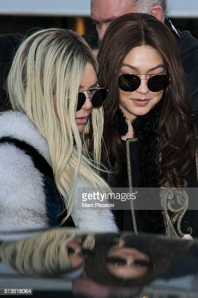 Kendall Jenner and Gigi Hadid are seen on March 3 2016 in Paris France