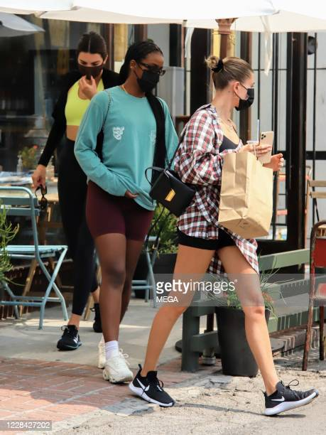 Kendall Jenner and Hailey Bieber seen after having together on September 9 2020 in Los Angeles California