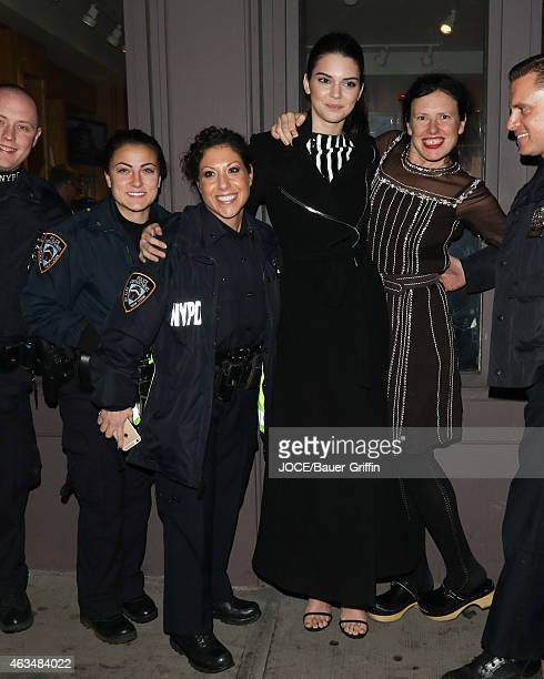 Kendall Jenner and Katie Grand are seen in New York City on February 14 2015 in New York City