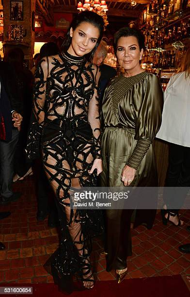 Kendall Jenner and Kris Jenner attend a starstudded dinner hosted by DEAN DELUCA Harvey Weinstein Charles Finch to celebrate Robert De Niro in his...