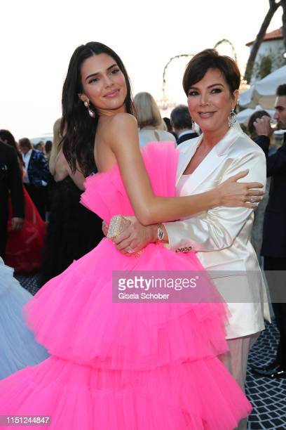 Kendall Jenner and Kris Jenner attend the amfAR Cannes Gala 2019 at Hotel du CapEdenRoc on May 23 2019 in Cap d'Antibes France