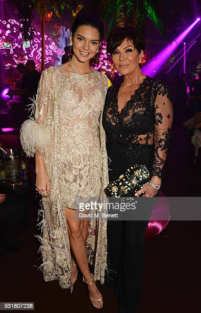 Kendall Jenner and Kris Jenner attend the Chopard Wild Party during the 69th Annual Cannes Film Festival at Port Canto on May 16 2016 in Cannes