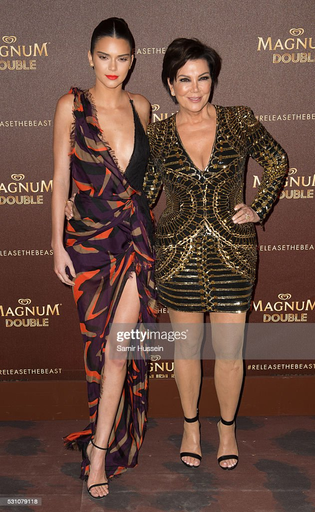 Kendall Jenner and Kris Jenner attend the Magnum Doubles Party at the annual 69th Cannes Film Festival at Plage Magnum on May 12, 2016 in Cannes, France.