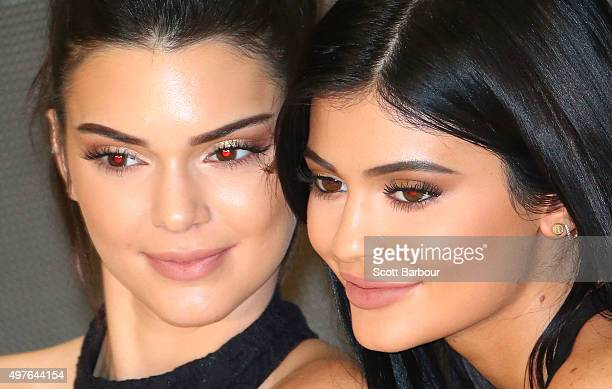Kendall Jenner and Kylie Jenner arrive at Chadstone Shopping Centre on November 18 2015 in Melbourne Australia