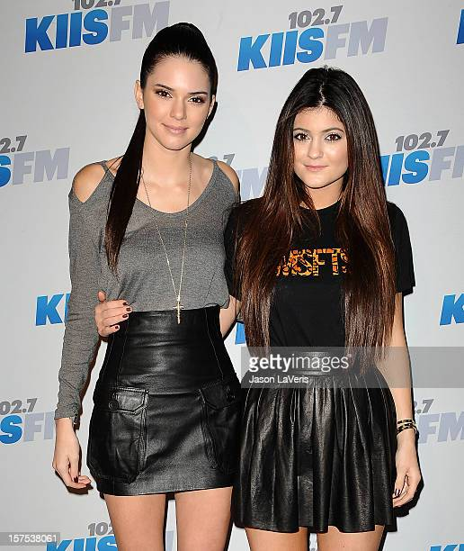 Kendall Jenner and Kylie Jenner attends KIIS FM's Jingle Ball 2012 at Nokia Theatre LA Live on December 3 2012 in Los Angeles California