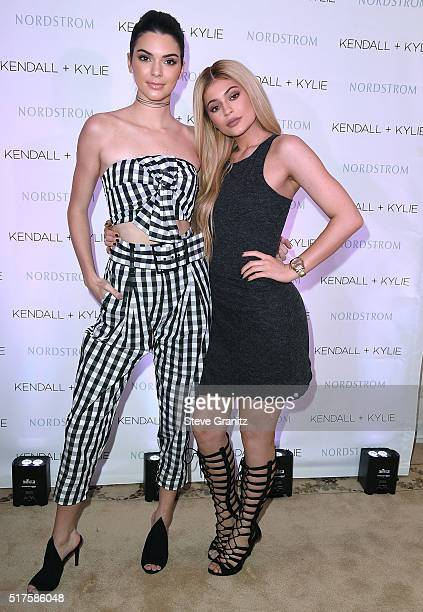 Kendall Jenner And Kylie Jenner Celebrate Kendall Kylie Collection At Nordstrom Private Luncheon at Chateau Marmont on March 24 2016 in Los Angeles...