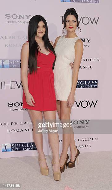 """Kendall Jenner and Kylie Jenner rrive at """"The Vow"""" Los Angeles Premiere at Grauman's Chinese Theatre on February 6, 2012 in Hollywood, California."""