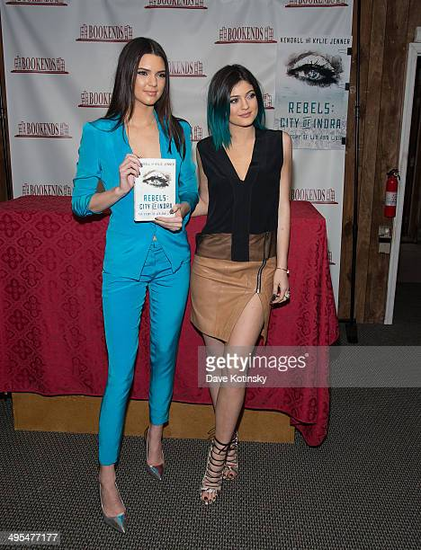 """Kendall Jenner and Kylie Jenner sign copies of """"City Of Indra: The Story of Lex And Livia"""" at Bookends Bookstore on June 3, 2014 in Ridgewood, New..."""