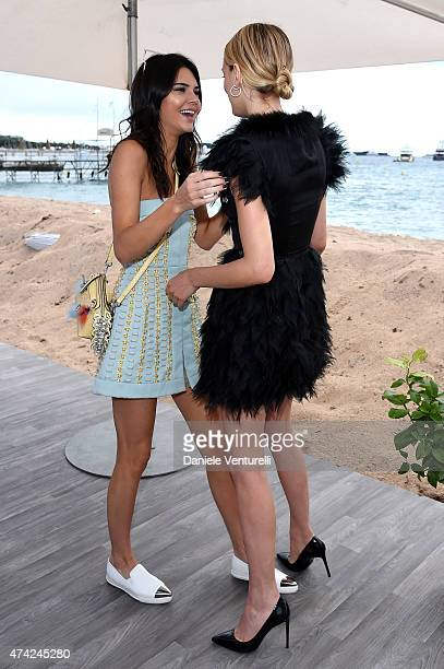 Kendall Jenner and Lily Donaldson attends the launch of the new 'Fendi By Karl Lagerfeld' Book during the 68th annual Cannes Film Festival on May 21...