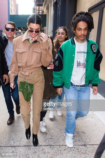 Kendall Jenner and Luka Sabbat are seen in SoHo on February 8 2018 in New York City