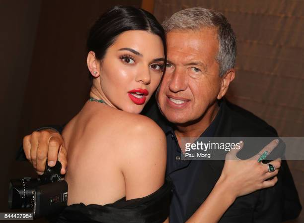 Kendall Jenner and Mario Testino attend the Daily Front Row's Fashion Media Awards at Four Seasons Hotel New York Downtown on September 8 2017 in New...