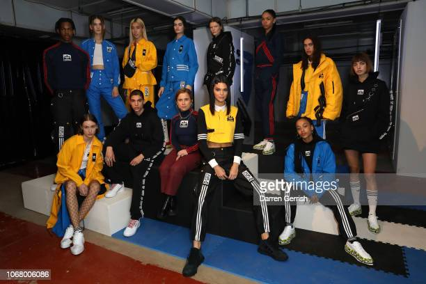 Kendall Jenner and Olivia Oblanc attend adidas Originals by Olivia Oblanc on November 15 2018 in London United Kingdom