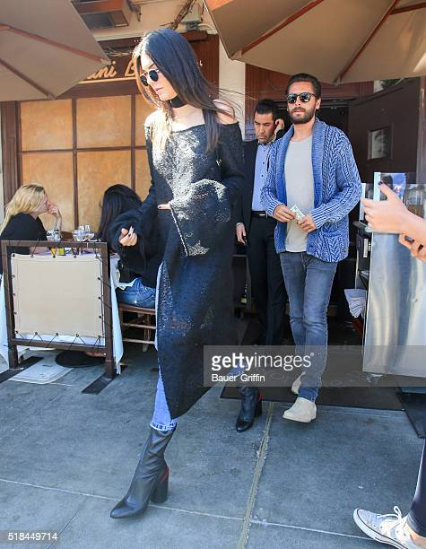 Kendall Jenner and Scott Disick are seen on March 31 2016 in Los Angeles California