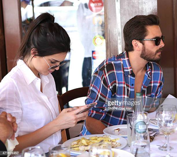 Kendall Jenner and Scott Disick are seen on May 1 2015 in Los Angeles California