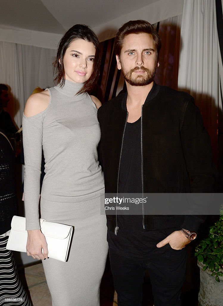 Kendall Jenner(L) and Scott Disick attend the Barbie Loves Wildfox party celebrating the Resort 2014 collaboration launch at the Wildfox Flagship Store on November 20, 2014 in West Hollywood, California