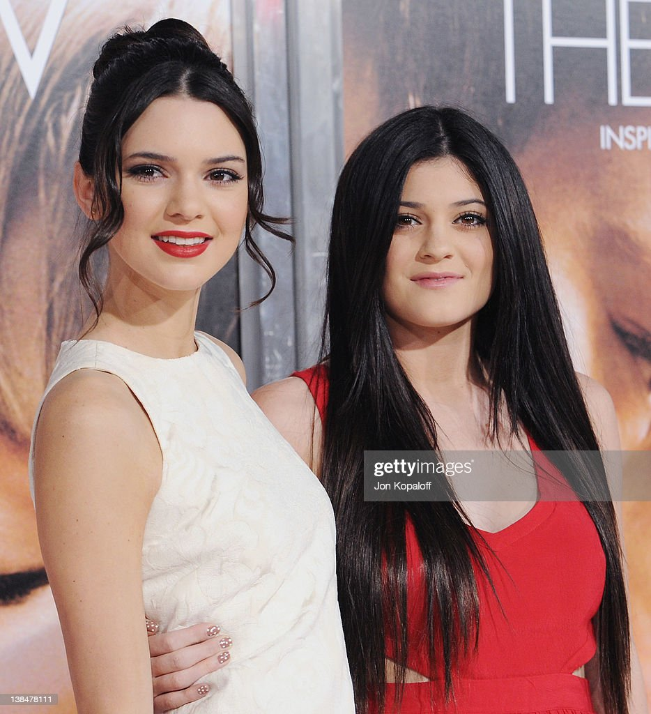 Kendall Jenner and sister Kylie Jenner arrive at the Los Angeles Premiere 'The Vow' at Grauman's Chinese Theatre on February 6, 2012 in Hollywood, California.