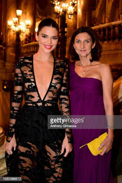 Kendall Jenner and Sophie Delafontaine attend the Longchamp 70th Anniversary Celebration at Opera Garnier on September 11 2018 in Paris France
