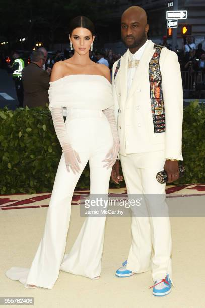 Kendall Jenner and Virgil Abloh attend the Heavenly Bodies Fashion The Catholic Imagination Costume Institute Gala at The Metropolitan Museum of Art...