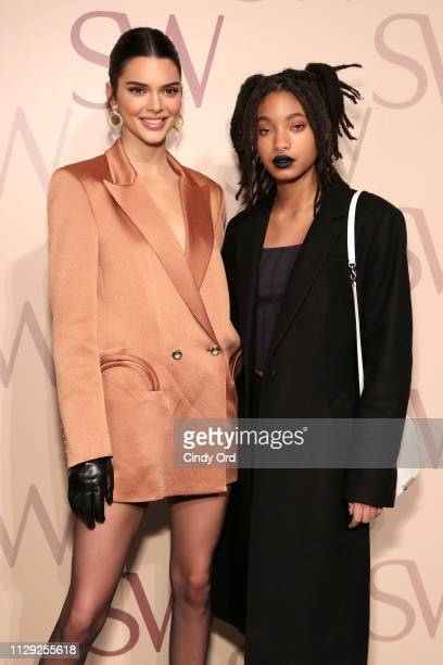 Kendall Jenner and Willow Smith attend Stuart Weitzman Spring Celebration 2019 on February 12 2019 in New York City