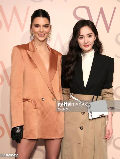 Kendall Jenner and Yang Mi attend Stuart Weitzman Spring Celebration 2019 on February 12 2019 in New York City