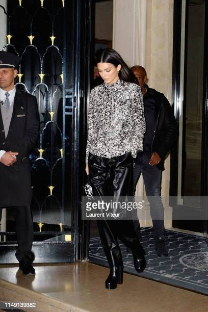 Kendall Jenner arrives at Hotel Georges V on May 14 2019 in Paris France