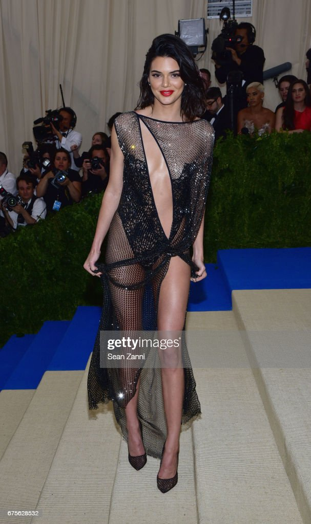 Kendall Jenner arrives at 'Rei Kawakubo/Comme des Garcons: Art Of The In-Between' Costume Institute Gala at The Metropolitan Museum on May 1, 2017 in New York City.