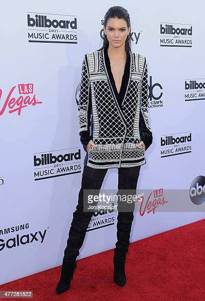 Kendall Jenner arrives at the 2015 Billboard Music Awards at MGM Garden Arena on May 17 2015 in Las Vegas Nevada