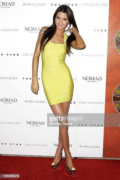 Kendall Jenner arrives at the book launch of Nomad Two Worlds by Russell James on November 1 2012 in Sydney Australia