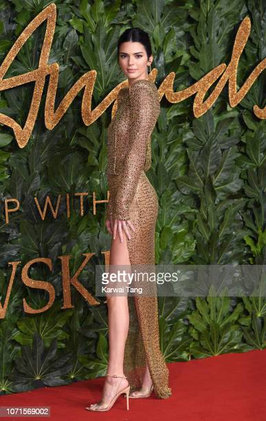 Kendall Jenner arrives at The Fashion Awards 2018 In Partnership With Swarovski at Royal Albert Hall on December 10 2018 in London England