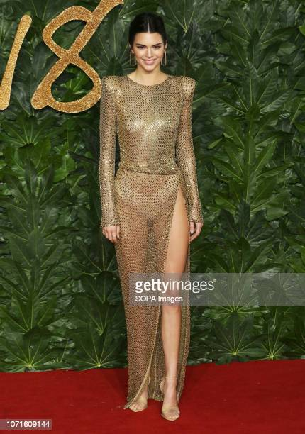 Kendall Jenner arrives at The Fashion Awards 2018 In Partnership With Swarovski at the Royal Albert Hall
