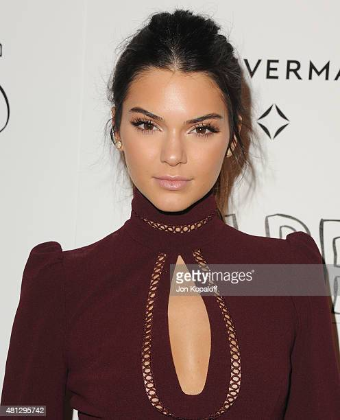Kendall Jenner arrives at the Screening Of 20th Century Fox's Paper Towns at The London West Hollywood on July 18 2015 in West Hollywood California