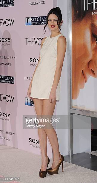"""Kendall Jenner arrives at """"The Vow"""" Los Angeles Premiere at Grauman's Chinese Theatre on February 6, 2012 in Hollywood, California."""