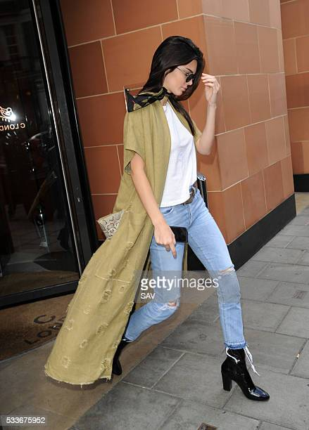 Kendall Jenner arrives back at The Dorchester after having lunch on May 23 2016 in London England