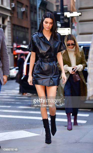 Kendall Jenner arrives to Longchamp Fashion Show at 28 Liberty Street during New York Fashion Week on February 9 2019 in New York City