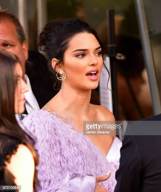 Kendall Jenner arrives to the 2018 CFDA Fashion Awards at Brooklyn Museum on June 4 2018 in New York City
