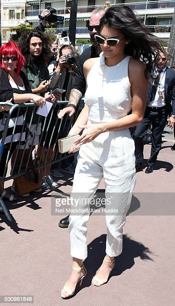 Kendall Jenner arriving at Magnum Beach on May 12 2016 in Cannes