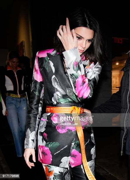 Kendall Jenner at Jimmy Choo show on February 11 2018 in New York City
