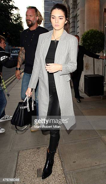 Kendall Jenner at the Edition hotel on July 2 2015 in London England